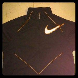 Black & Gold Nike force warm-up jacket